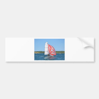 Racing Dinghy At Fornells Bumper Sticker