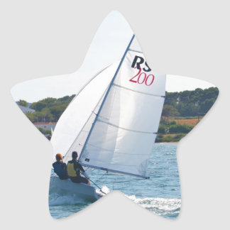 Racing Dinghy At Speed Star Sticker