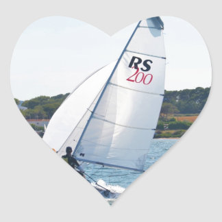 Racing Dinghy At Speed Stickers