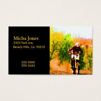 Racing Dirtbike Daredevil Business Card
