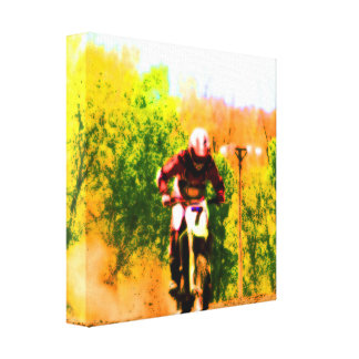 Racing Dirtbike Daredevil Canvas Print