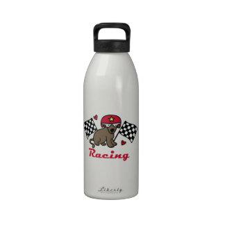 Racing Dog Reusable Water Bottles