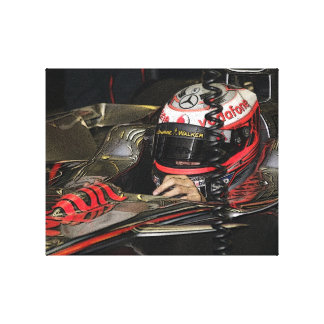 Racing Driver Canvas Print