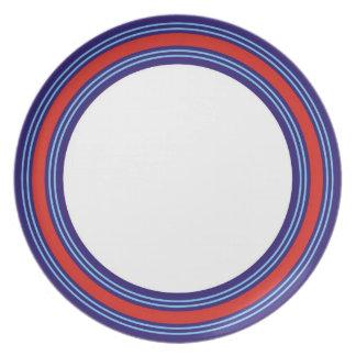 Racing driver's dinner dinner plate