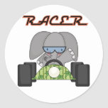 Racing Elephant T-shirts and Gifts Stickers
