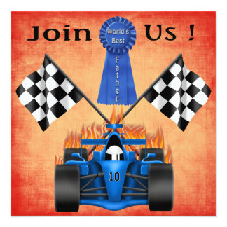 Racing Father's Day Party Invitations