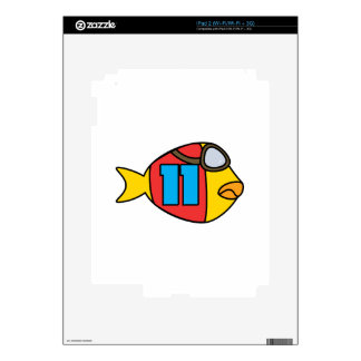 racing fish decals for iPad 2
