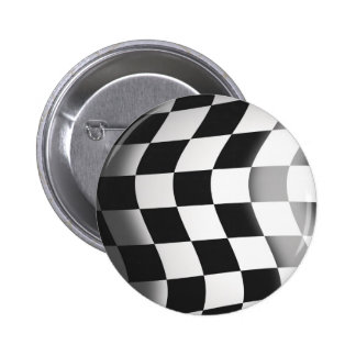 Racing Flag 2 Inch Round Button