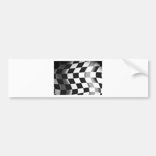 Racing Flag Car Bumper Sticker