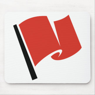 Racing Flag Red Mouse Pad
