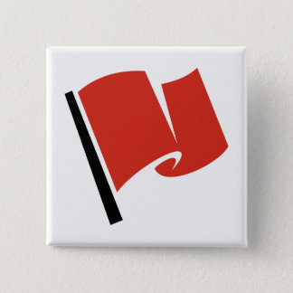 Racing Flag Red Pinback Button