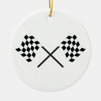 Racing Flags Ceramic Ornament