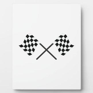 Racing Flags Plaque