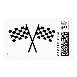 Racing flags stamp