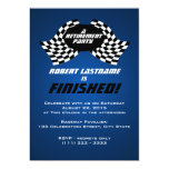 Racing Flags Retirement Party 5x7 Paper Invitation Card