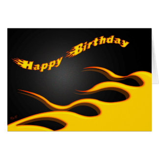 Racing Flames: Happy Birthday Greeting Cards