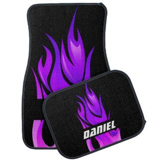 Racing Flames Personalized Floor Mat
