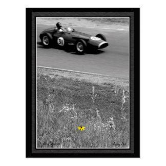 Racing Flower Post Card