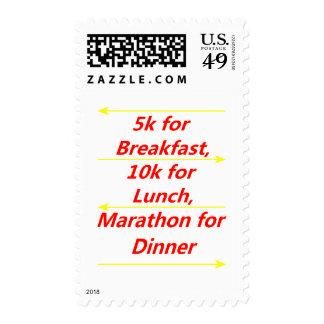 Racing Food Postage Stamps