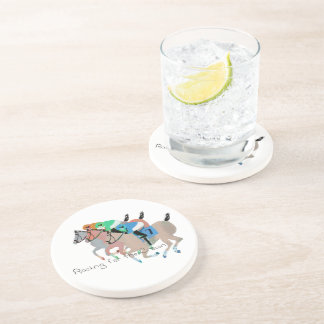 Racing for the Crown Beverage Coasters