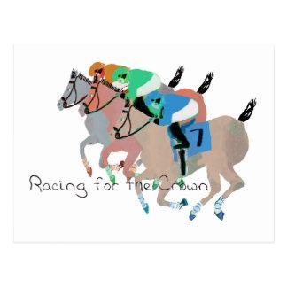 Racing for the Crown Postcard
