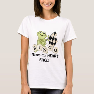 Racing Frog Bingo womens t-shirt