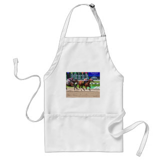 Racing from Beautiful Belmont Park Adult Apron
