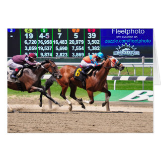 Racing from Beautiful Belmont Park Cards