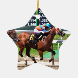 Racing from Beautiful Belmont Park Ceramic Ornament