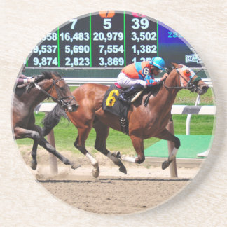 Racing from Beautiful Belmont Park Drink Coasters