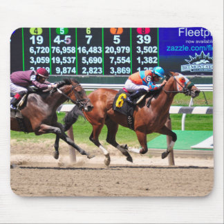 Racing from Beautiful Belmont Park Mouse Pad