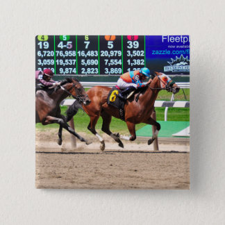 Racing from Beautiful Belmont Park Pinback Button