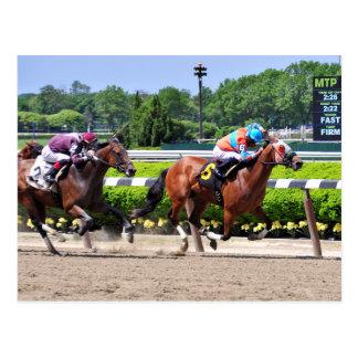 Racing from Beautiful Belmont Park Postcard