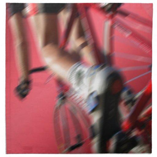 racing from below cycle en dynamic pesca servilleta imprimida