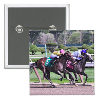 RACING FROM HISTORIC SARATOGA PINBACK BUTTON