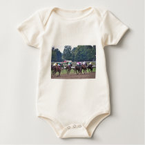 Racing from Historic Saratoga Race Course Baby Bodysuit