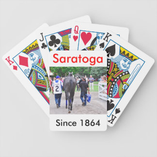 Racing from Historic Saratoga Race Course Bicycle Playing Cards