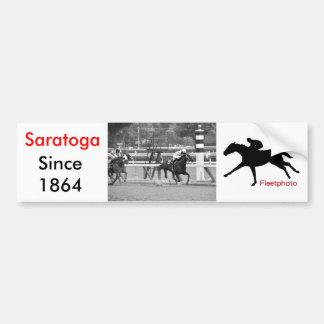 Racing from Historic Saratoga Race Course Car Bumper Sticker