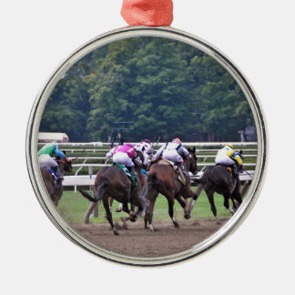 Racing from Historic Saratoga Race Course Christmas Ornament