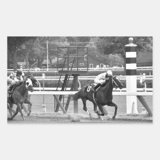 Racing from Historic Saratoga Race Course Rectangular Sticker