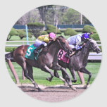 RACING FROM HISTORIC SARATOGA CLASSIC ROUND STICKER