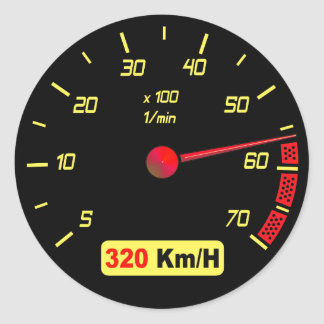 Racing Gauge Sticker