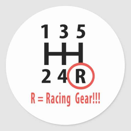 racing gear R Classic Round Sticker