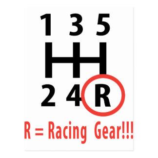 racing gear R Postcard