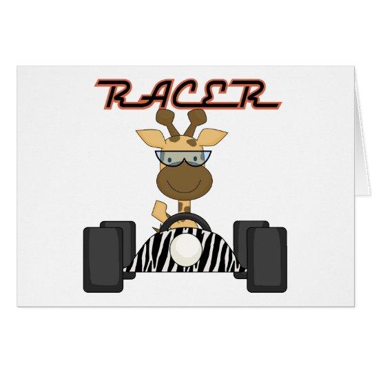 Racing Giraffe Tshirts and Gifts Card