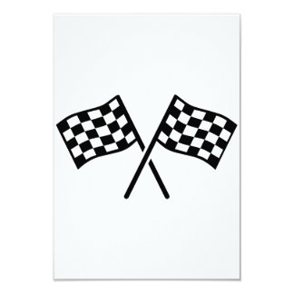 Racing goal flags personalized invites