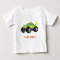Racing Green Monster Truck for Baby Boys Baby T-Shirt