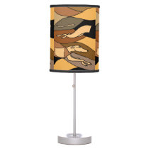 Racing Greyhound Abstract Art Lamp