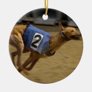 Racing Greyhound Dog Ornament