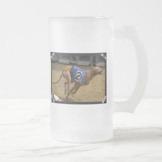 Racing Greyhound Frosted Beer Mug